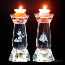 Candelabros cristalinos de la manera que se casan al candelero de la decoración de la palmatoria