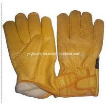 Guante de guante de invierno - Guante de cuero de invierno - Guante de trabajo de piel de vaca - Guante de guante de guante de mecánico