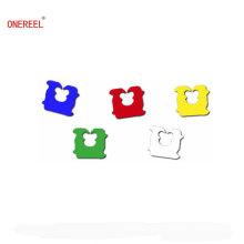 Mini clips de plástico del pan de colores