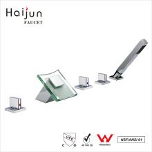 Haijun 2017 contemporáneo contemporáneo de la cubierta comercial montado en latón grifos de la bañera