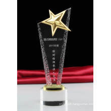Customized Crystal Five Star Trophies