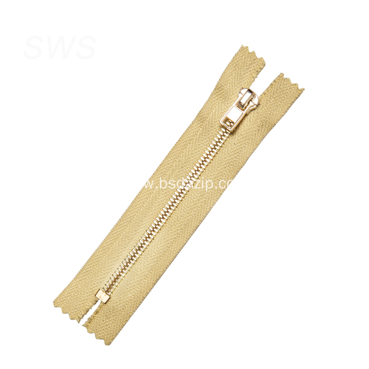 Brass No. 5 5 Zipper for Bags