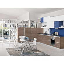 Popular for Canada market modern wood veneer kitchen cabinet design