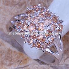 Anneaux en argent de la mode gemme cz pouce anneaux bijoux imitation