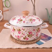 custom enamel strait cooking pot & Chinese enamelware wholesale