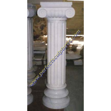 Piedra de mármol de granito piedra arenisca columna columnas huecas (QCM005)