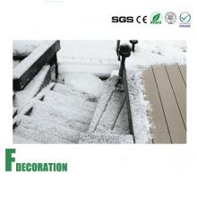 Weather Resistant Solid Low Cost Wood Plastic Composite Decking Floor