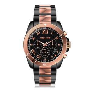 chronograph quartz watch wholesale stainless steel case