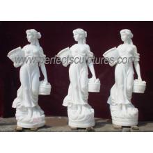 Tallada de mármol estatua de piedra tallada muebles de jardín de escultura para la decoración (SY-X1079)