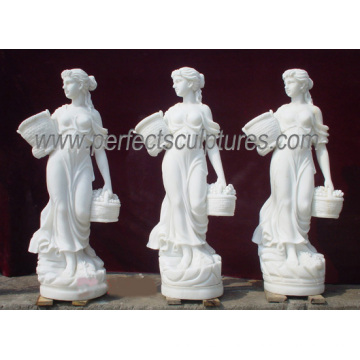 Carved Marble Statue Stone Carving Sculpture Garden Furniture for Decoration (SY-X1079)