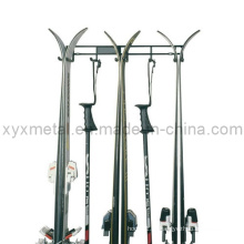 3 Pairs Ski and Pols Wall Ski Hanger Storage Rack