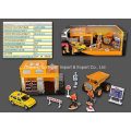 Die Cast Metal Car Play Set Toy-P/B Engineering Set