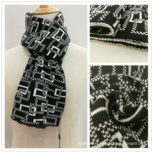 Mens Classic Basic Knitted Winter Check Printing Scarf (SK810)