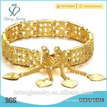 2015 El oro femenino del nuevo de la llegada de los productos de moda del regalo hueco plateó la pulsera