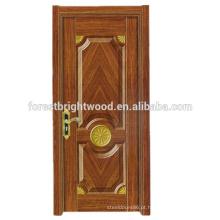 Alta Qualidade Popular HDF Melamina Moldada Design Porta Interior