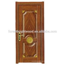Высокое качество популярные ХДФ меламина Отлитая в форму Конструкция межкомнатной двери