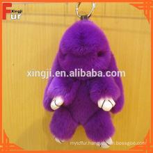 Cute Rabbit Fur Accessory Rex Rabbit Fur Keychain