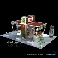 island 6 x 9 meters / 20 x 30 ft portable trade show exhibition display booth custom with lowest price and export to abroad