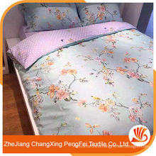 Fashion lovely home textile polyester fabric bedsheet
