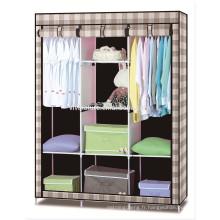 Nouvelle conception Toile Garde-robe \ Vêtements Utiles Armoire De Rangement Garde-Robe \ Maison Facile Prenant Armoire