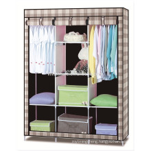 Folding fabric portable bedroom wardrobe with metal frame big size