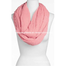 100% Cotton Fashion Ladies Solid Infinity Scarf