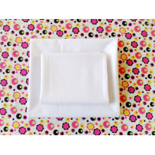 Bleached white polyester and cotton fabric 133x72
