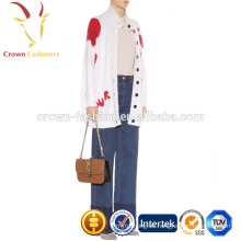 Chunky Knit Cardigan Cashmere Damen Weiß