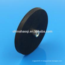 D88mm NdFeB aimant en pot en caoutchouc résistant