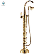 KFT-04J new product chrome single lever brass floor standing bathtub faucet, upc tub shower faucet