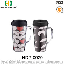 Wholesale Double Wall Plastic Mug with Handle