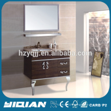 Cabinet de salle de bain moderne en acier inoxydable