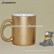 Sunmeta fábrica de fornecimento de boa qualidade revestido de sublimação ouro caneca caneca dourada