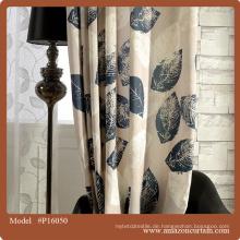 Neuer Entwurf europäischer hochwertiger Polyesterbaumwollvorhangentwurf für Salon