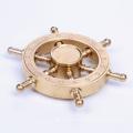 2017 New Design Solid Brass Gold Rudder Fidget Spinner Toy Finger Hand Fidget Spinner