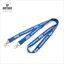 Silk Screen Printing Card Holder Lanyard with Two Clips