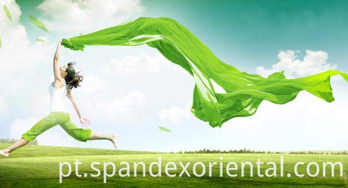 Degradable environmental protection spandex