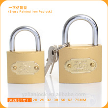 2015 hot sale top security very cheap brass painted imitate brass iron padlock