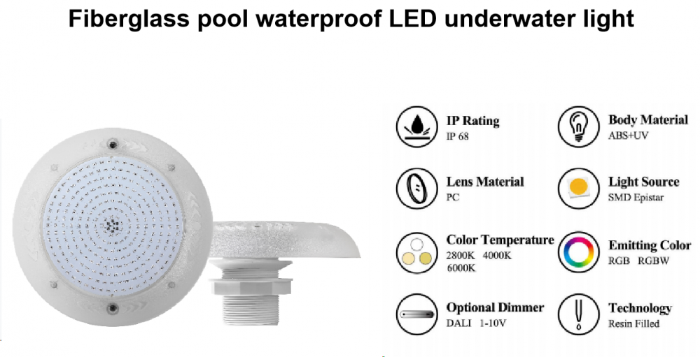 Fiberglass Underwater Led Pool Light 5