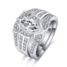 Anel de casamento vintage mulheres anéis de noivado conjunto (cri0490)