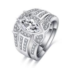 Старинные обручальные кольца женщин свадебное кольцо набор (CRI0490)