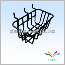 Black metal wire hanging fruit vegetable display basket