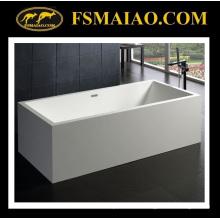 Große rechteckige freistehende Badewanne Solid Surface (BS-8614)
