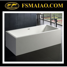 Surface solide de baignoire autoportante de rectangle de grande taille (BS-8614)