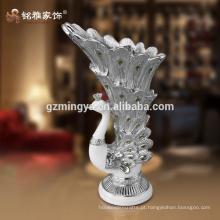 A decoração personalizada torna a sua casa linda artesanato de resina de vaso de luxo em flor interior