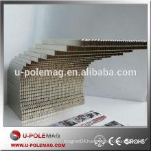 custom Ni coating 50x4x2.4mm block neodymium magnet