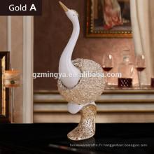 Nouvelle arrivée décorative résine animal statue statue des amants des cygnes style moderne résine animal statue