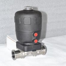 Válvula de diafragma neumática sanitaria con actuador de poliamida PA