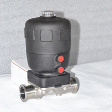 Válvula de diafragma pneumática sanitária com atuador PA de poliamida