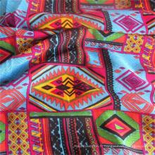 Tissu de viscose textile de gros de rayonne imprimée par coutume de tissu de challis